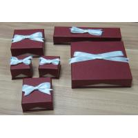 China Red Paper Jewelry Boxes with ribbon, Paper Gift/Presentation Boxes on sale