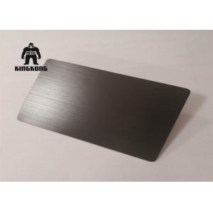 Brushed  Silver Laser Etched Business Cards  Anodized Aviation   85 x 54mm