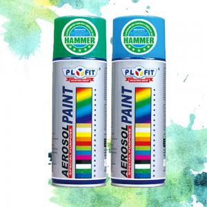 China All Purpose Acrylic Spray Paint Metallic / High Heat / Fluorescent / Hammer Application on sale