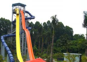 China 0.85M Width Fiberglass Water Slide Tube 5 - 13M Platform Height 1 Rider / Slide Load on sale