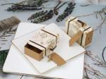 Mini Luggage Drawer Wedding Favour Gift Boxes With Kraft Tag