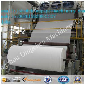China 2100mm 6-7T/D toilet paper making machine with recycled paper as material on sale