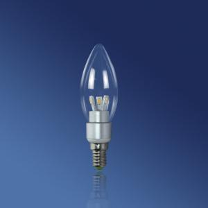 China 5630 E14 3W 210lm pointed, elongated tail Dimmable Led Candle Light Bulbs on sale