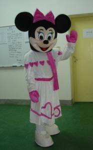 China Lovely ice skating minnie mouse kids mascot costumes for various parties on sale