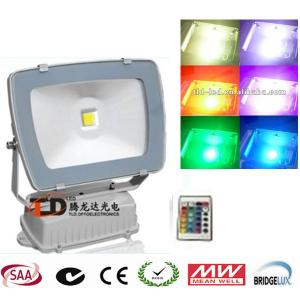 China RGB 10w High Power Led Streetlight , Rechargeable Floodlight Led For Yards on sale