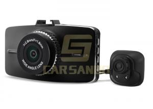 China Dual Channel Vehicle Dash Camera Dvr , 3 Inch Front And Rear Recording Dash Cam on sale
