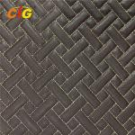 Car Floor Car Seat Pu Artificial Leather Abrasion Resistant 4mm - 6mm For Foam