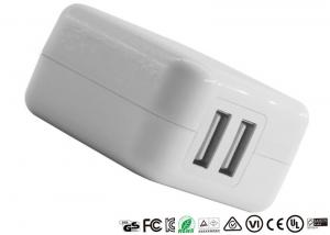 China Durable Dual Home Charger US plug 2 Port USB Wall Mobile Phone Power Travel Charger on sale