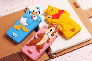 China For iphone, Samsung 3D Disney Minnie and Mickey Silicone case for mobile phone on sale