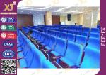 Metal Folding PU Molded Sponge Theater Seats With Back Table / Movie Theater Chairs