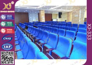 China Metal Folding PU Molded Sponge Theater Seats With Back Table / Movie Theater Chairs on sale