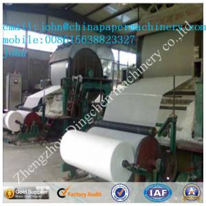 China papier hygiénique 1T/D de 787mm faisant la machine avec le papier de rebut comme matériel on sale