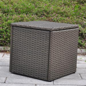China Outdoor Patio Resin Wicker Deck Box Storage Container Bench Seat, 21 Gallon, Anti Rust, All Weather Resistant on sale