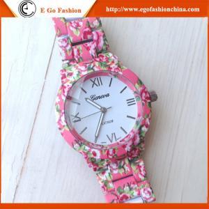 China Geneva Watch Women Watches Girl Wristwatch Female Watch Rose Flower OEM Watch Luxury Watch on sale