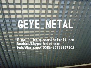 China Press-Locked Aluminum Flat Bar Grating, Pressure Locked Aluminium Grid Architectural Ceilings on sale