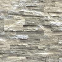 Cloudy Grey Marble Stone Veneer Panels For Interior Walls Chip And Crack Resistant