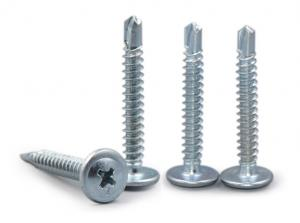 China Zinc Plated Steel Extral Wide Truss Head Drilling Screw For Sheet Metal on sale