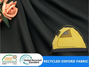 China FDY Polyester Recycled Eco Friendly Plain 400D Oxford Coating Tent Outdoor Awning Fabric on sale