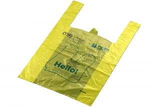 China LDPE / HDPE Plastic Shopping Bags , Die Cut Plastic Bags With Custom Printing on sale