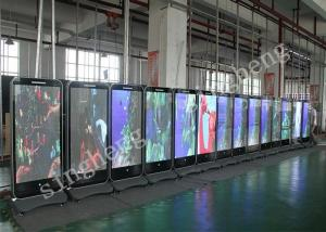 China Commercial LED Poster Display P4 62500 Dots/Sqm Pixel Density IP65 Protective on sale