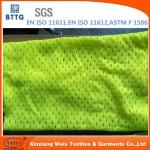 EN20471 inherent FR Modacrylic/cotton knitted mesh fabric