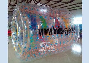 China Bulls eye PVC and TPU inflatable water roller with removable tubes for pool parties on sale
