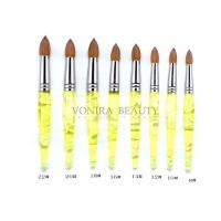 Pointed Lemon Yellow Kolinsky Acrylic Nail Brush Professional