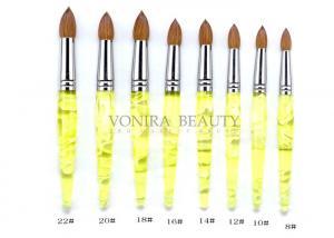 China Pointed Lemon Yellow Kolinsky Acrylic Nail Brush Professional on sale