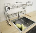 Kitchen Storage Fashion Dish Drying Shelf With Chopstick Holder Rrustless