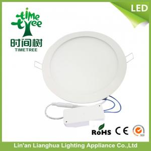 China RoHS Round 8w Flat Panel LED Lighting , Multicolor LED Panel Ceiling Lights on sale