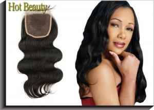 China Silk Base Lace Top Closure Body Wave Natural Match Bundles For Ladys on sale