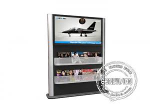 China Landscape Magazine Holder Advertising Kiosks Displays , Touch Interactive Digital Signage Totem on sale