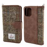 Brown TPU Harris Tweed 5.8 Leather Flip Cover Phone Case