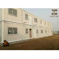 China Labor Quarters Pre Built Container Homes Customized Color With Bathroom And Kitchen on sale