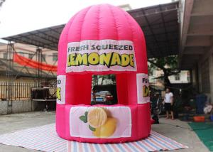 China Purple Red Advertising Inflatable Tent 4 M Tall Lemonade Store For Event on sale