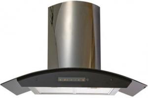 China 430 Stainless Steel Wall Mount Range Hood With Well Balanced Metal Fan on sale