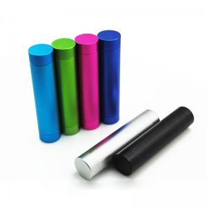 China Metal Cylinder 2600mAh Portable Power Bank External Charger for Tablet PC/Mobile Phones on sale