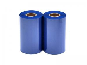 China Blue Color Zebra Printer Ribbon Used On Polyimide Label With Good Wear Resistance on sale