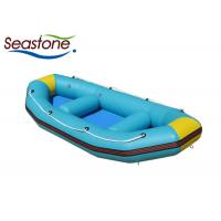 Quick Inflatable Rafting Boats Elegant Shape Tapered Tube Thermal Welding Seams Construction