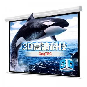 """China 100"""" 4:3 motorizaron blanco mate eléctrico del teatro casero de la pantalla de proyector HD 3D TV de la proyección on sale"""
