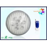 9 Watt Round RGB LED Par56 Pool Light 6000K With Remote Control