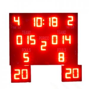 China Indoor Outdoor LED Basketball Scoreboard , Basketball Countdown Timer Waterproof on sale