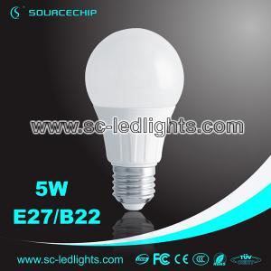 China CREE LED lamp bulb 5W E27/B22 LED bulb lamp made in China on sale