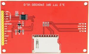 China Ili9488 Driver Lcd Touch Display Module 3.5 Inch Spi 320x240 Panel With Card Slot on sale