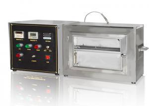 China Vehicle Decoration Horizontal Flammability Tester , DIN7520 Electronic Combustion Analyzer on sale