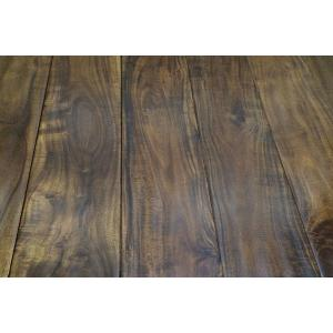 China hand scraped short leaf acacia hardwood flooring on sale