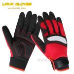 Guantes reflexivos y del PVC de los cojines de la protección de los mecánicos/guantes de trabajo para el trabajo de perforación