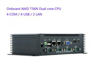 China AMD T56N Dual Core CPU Industrial Embedded Computer VAG / HDMI Display Barebone Server on sale