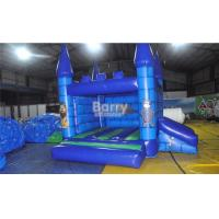 Mickey Mouse Inflatable Bouncer Blue Inflatable Jumping House With Slide