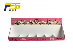China Custom Pattern Corrugated Counter Displays For Food Promotion Easy To Assemble on sale